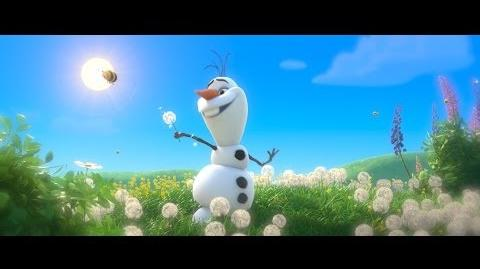"""Frozen """"In Summer"""" Song - Sing-a-long with Olaf - Official HD"""