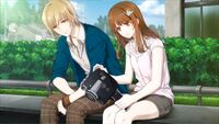 Gakuen K Illustration, Totsuka Route Good Ending 03