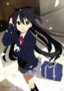 Azusa with Cherry tree petals