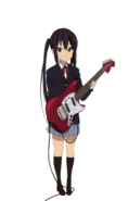 Azusa with her guitar