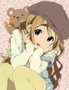 Mugi with her teddy bear