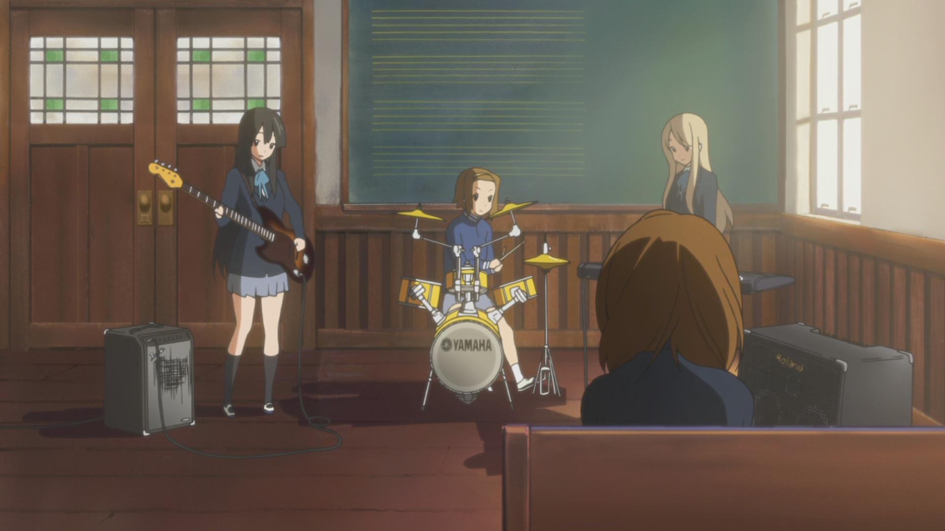 Mio, Ritsu and Mugi play Tsubasa wo Kudasai
