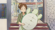 Ui with her turtle