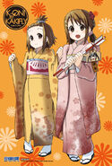K-ON! Hobunsha Yukata clear card Ritsu and Yui