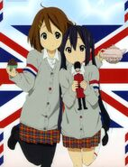 Yui and Azusa in England