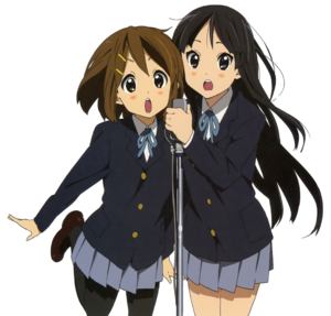 Mio and Yui singing