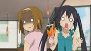 Ritsu overhears azusa