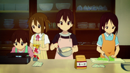 Nodoka and Yui cooking