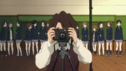 Class 3-2 waits for the yearbook photos