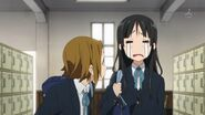 Mio and Ritsu after class