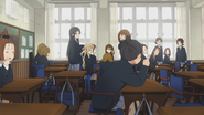 Class 3-2 discussing Sawako's present