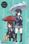 K-ON! Hobunsha Rainy season clear card Yui and Mio