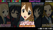 K-ON! Ho-kago Live!! Character select