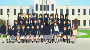 Preparations for the class photo