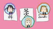 Azusa's, mugi's and ritsu's autographs