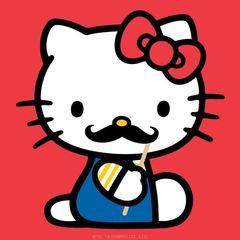 Hello Kitty Moustache
