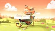 Mr. Cat Reading Newspaper