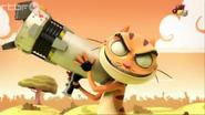 Mr. Cat Using Bazooka