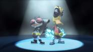 Stumpy and Quack Quack as Super Heroes