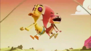 Stumpy and Quack Quack Butt Bump
