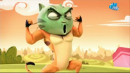 Mr. Cat Looking Green and Muscular