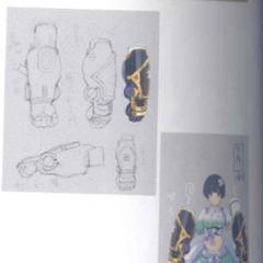 Yozakura Concept Art (Gauntlets)