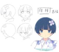 Yozakura Concept Art (Heads) 2