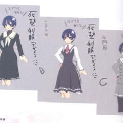 Yozakura Concept Art (School Uniform Prototype)