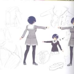 Yozakura Concept Art (School Uniform)
