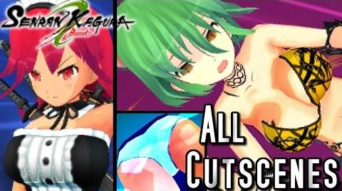 Senran Kagura Burst ALL Cutscenes (3DS - Hebijo)