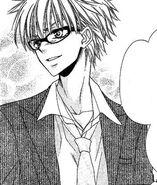 Kuuga blushing in the manga
