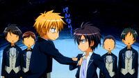 Takumi touches Misaki