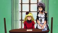 Aoi seated by Misaki