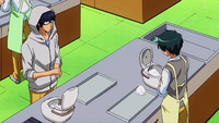 Kanou helping Yukimura