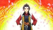 Misaki as a samurai