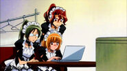Maids watching the laptop