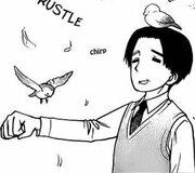 Edward walker with pigeons