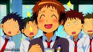 Hinata happily eats
