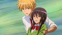 Takumi catches Misaki