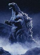 A mid-Heisei Godzilla suit that is fatter than Godzilla 2014