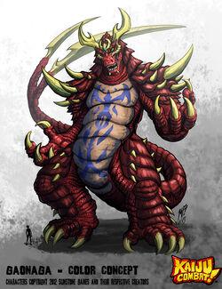 Kaiju combat gaonaga by kaijusamurai-d5u29ig