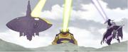 Monarchs destroying the veil
