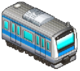 Blue Striped Train (Station Manager)