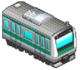 Dark Green Striped Train (Station Manager)