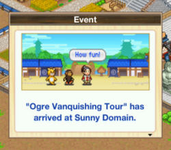 Ogre vanquishing tour-oh edo towns