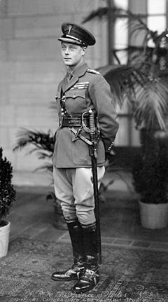 Edward Prince of Wales during his visit to Canada in 1919