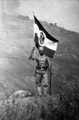 Askari with Flag