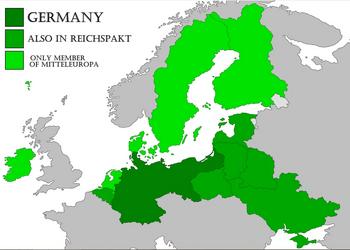 Mitteleuropa map