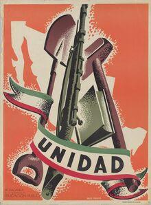 Propaganda de guerra sindicalista Mexicana