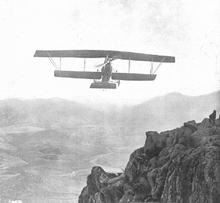 Spanish aeroplane on the take of gibraltar